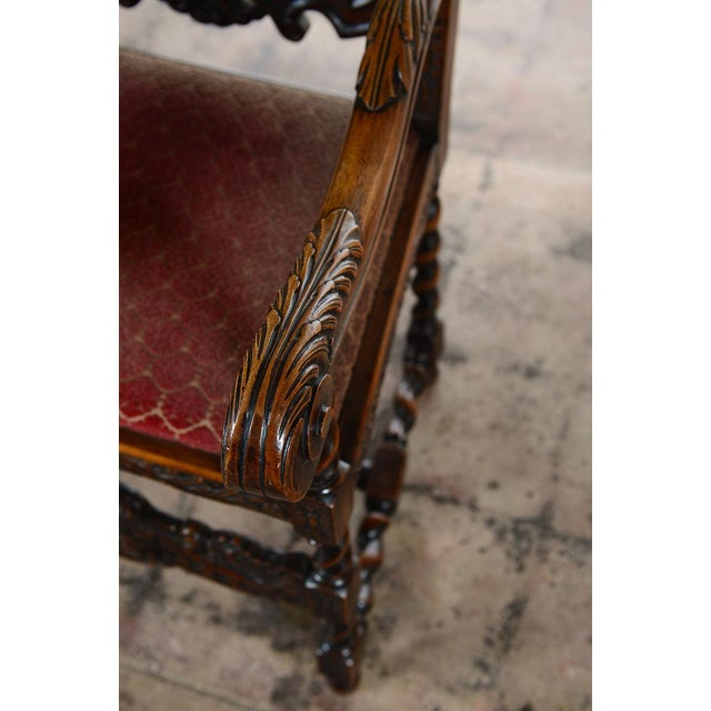 English Renaissance Dining Chairs - Set of 12 - Image 10 of 11