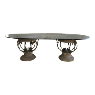 Drexel Heritage Glass Dining Table For Sale