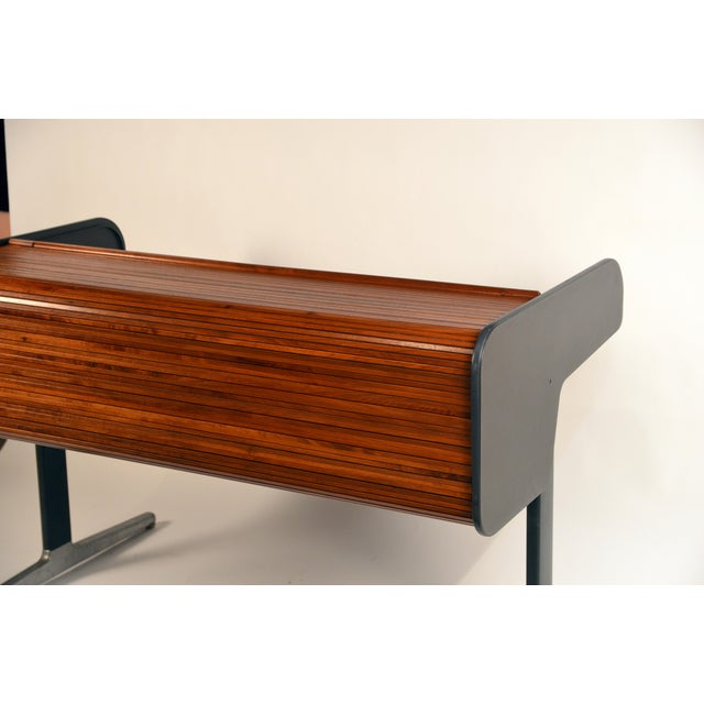 Aluminum 'Action Office 1' Roll Top Desk by George Nelson for Herman Miller For Sale - Image 7 of 13