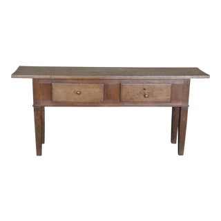 Narrow 19th Century Console Table