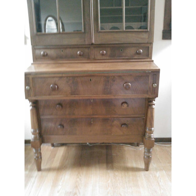 Antique Secretary Desk with Shelving - Image 3 of 9
