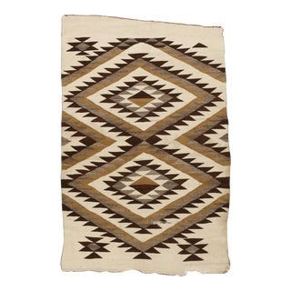 "Vintage Navajo Hand Woven Woo Rug, 4'1 X 5'2"" For Sale"