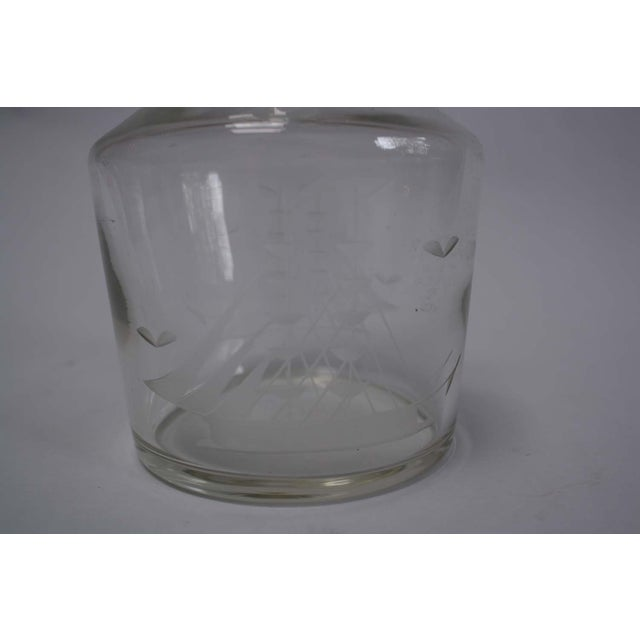 Nautical Etched Ship Glass Liquor Decanter - Image 3 of 5