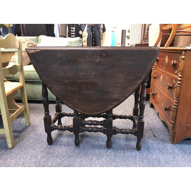 17th Century Antique Jacobean Drop Leaf Table For Sale - Image 12 of 12