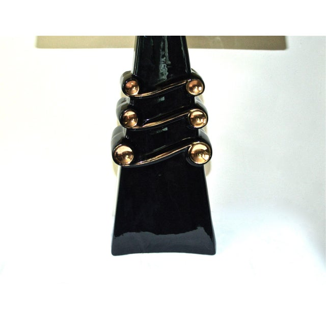 Mid-Century Modern Mid-Century Black and Gold Lamp For Sale - Image 3 of 11