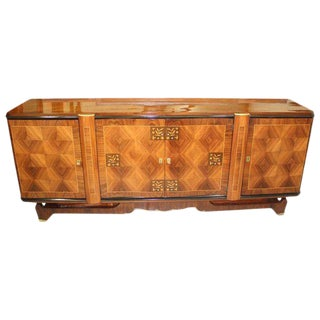 French Art Deco Palisander Jules Leleu Style Sideboard Circa 1940s