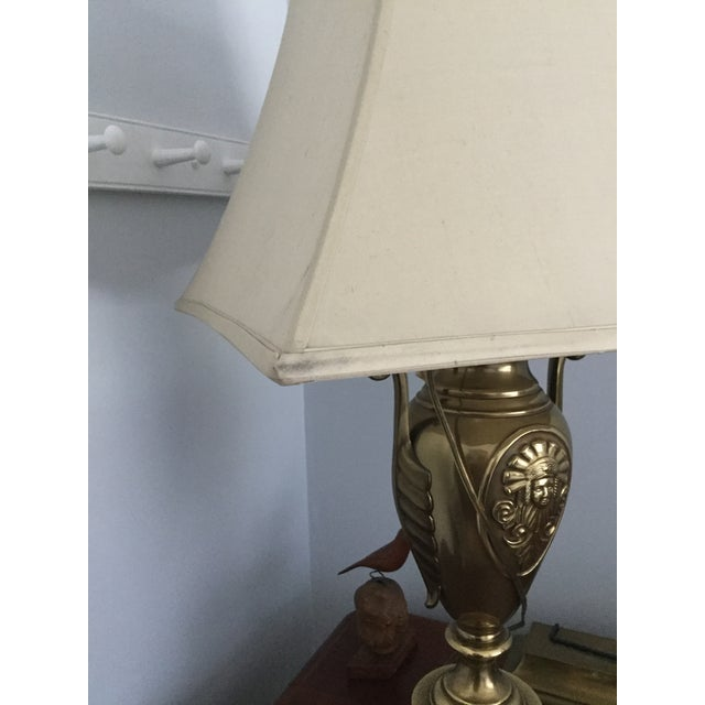 Ethan Allen Brass Table Lamp - Image 5 of 7