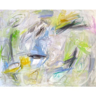 """Sailing"" by Trixie Pitts XL Abstract Expressionist Oil Painting For Sale"