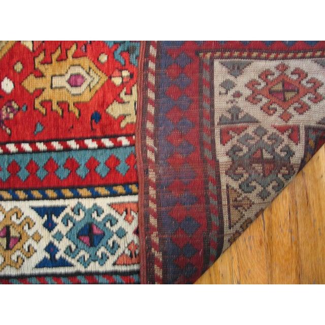 "Antique Caucasian - Kazak Rug 4'0"" X8'6"" For Sale In New York - Image 6 of 7"