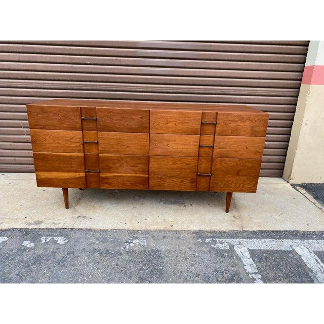 1960s Kipp Stewart for American Design Foundation Mid Century Modern 6 Drawer Dresser For Sale - Image 9 of 9