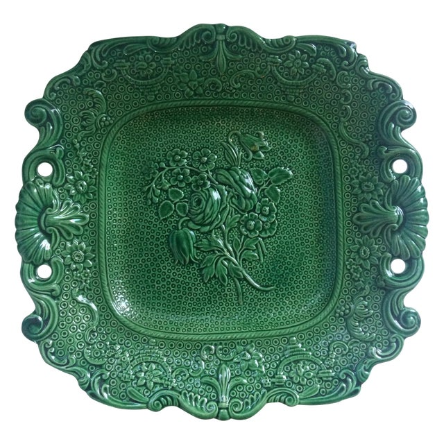 Antique English Majolica Plate - Image 1 of 4