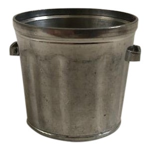 "Vintage Cartier Pewter ""Trash"" Can For Sale"