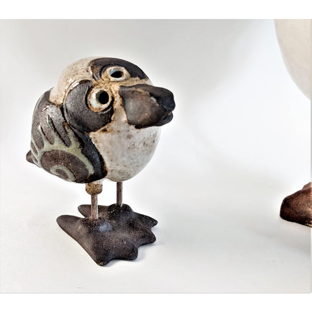 1980s Mid Century Modern Studio Pottery Seagull Sculptures - 2 Pieces For Sale - Image 9 of 13