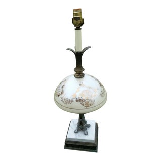 Vintage Hollywood Regency Falkenstein Style Opalescent Lamp For Sale