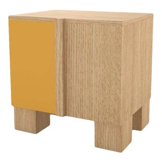 Contemporary 100 Bedside in Oak and Color by Orphan Work, 2020 For Sale