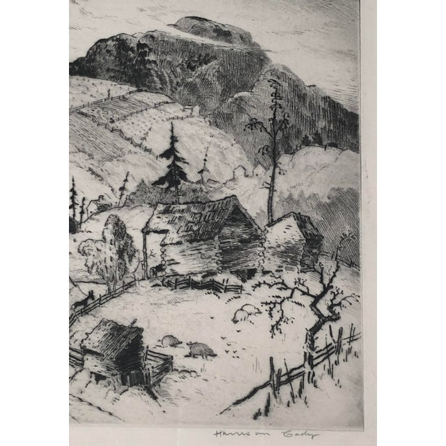 """1930s """"Mountain Farms Near Spruce Pine, North Carolina"""" Etching by Harrison Cady For Sale - Image 5 of 13"""