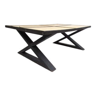 Goatskin Coffee Table in the Style of Gene Michel Frank For Sale