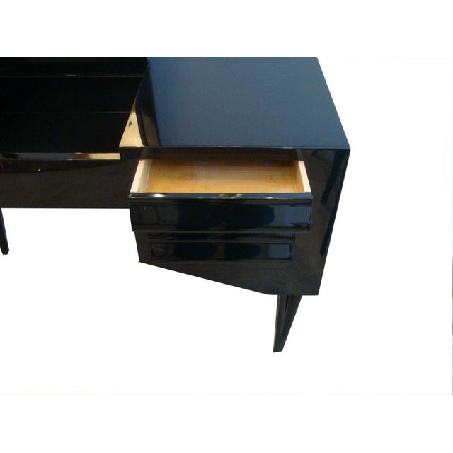 1950s Vanity or Dressing Table in Black Lacquer Mid-Century Italy For Sale - Image 5 of 5