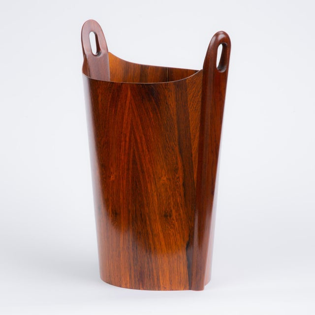 1960s Norwegian Rosewood Wastebasket by Einar Barnes for P.S. Heggen For Sale - Image 5 of 12