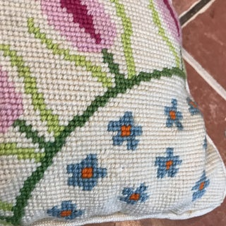 Vintage Boho Chic Needlepoint Pillow Preview