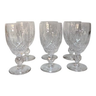 Mid 20th Century Traditional Waterford Port Glasses - Set of 6 For Sale