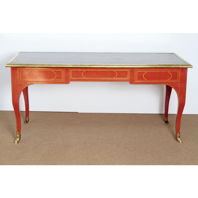 BAKER & COMPANY COLLECTORS EDITION LOUIS XV STYLE PAINTED BUREAU PLAT - Image 5 of 10