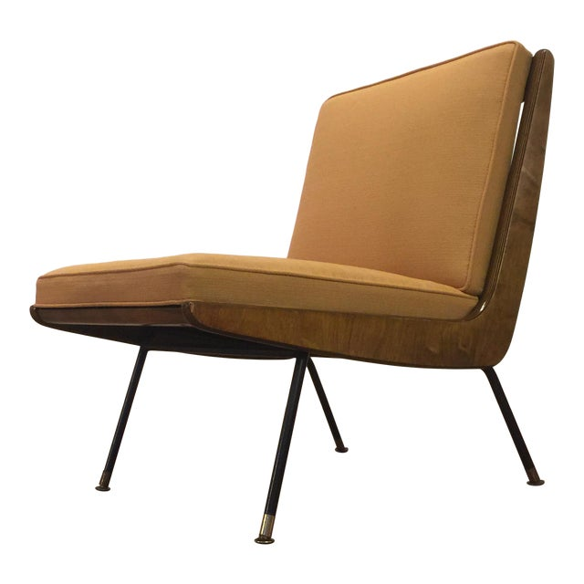 New Yellow Upholstery Mid-Century Boomerang Chair For Sale