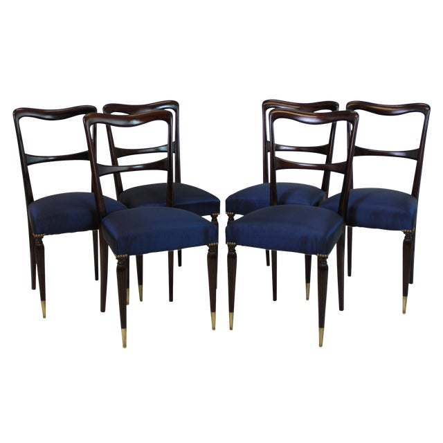 A Set of Six Fine Italian Dining Chairs For Sale