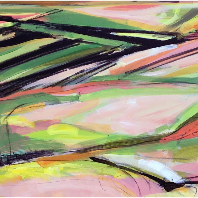 Abstract Onion Road Acrylic Painting For Sale - Image 3 of 5