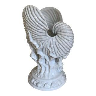 Royal Worcester Naltilus Shell Vase / Center Piece For Sale