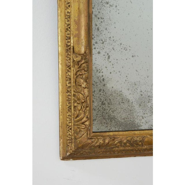 Italian 18th Century Giltwood Frame Mirror For Sale - Image 3 of 6