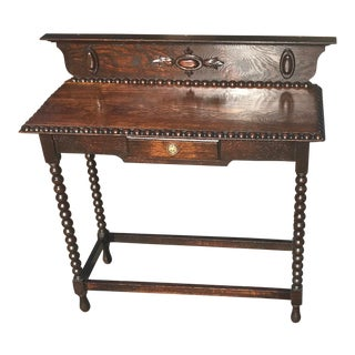 English Bobbin Console Table With Drawer For Sale
