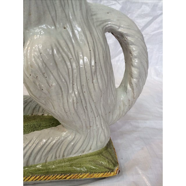 Italian Ceramic Afghan Hound Statue For Sale - Image 7 of 11