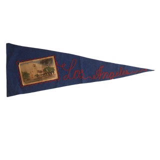 Vintage Los Angeles Felt Flag Pennant