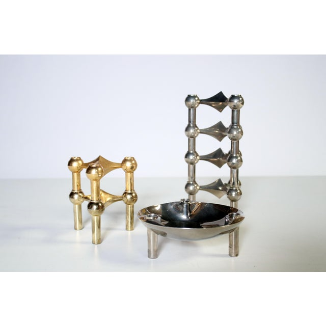 Caesar Stoffi Modular Candle Holders and Bowl by Nagel - Image 5 of 6