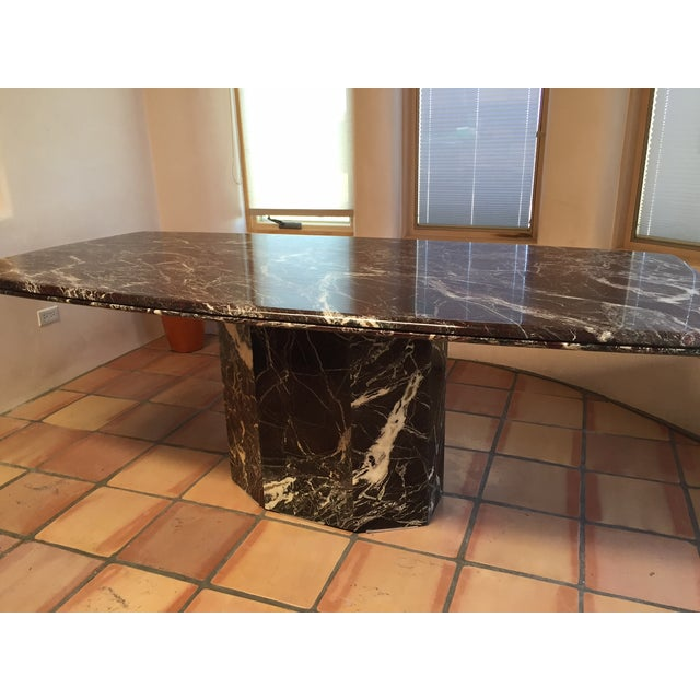 Italian Marble Dining Table - Image 6 of 7