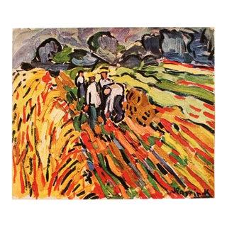 """1948 Maurice De Vlaminck, Original Period Lithograph """"Farmers"""" For Sale"""