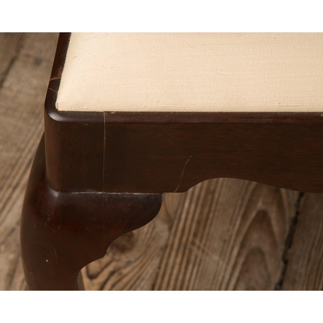 Brown 1990s Vintage Madison Square Furniture Chippendale Style Mahogany Side Chair For Sale - Image 8 of 13