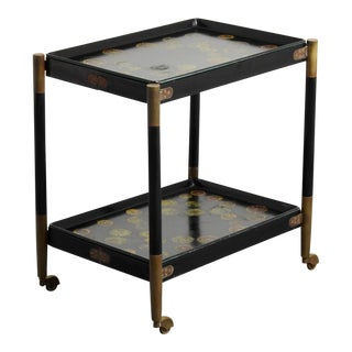 1960s Piero Fornasetti Folding Cart With Removable Trays For Sale