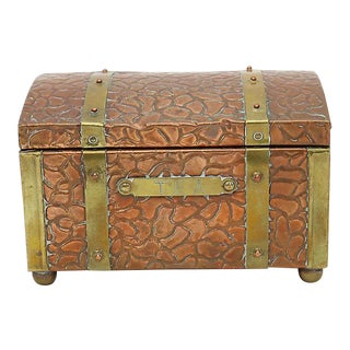19th Century English Copper & Brass Tea Caddy For Sale