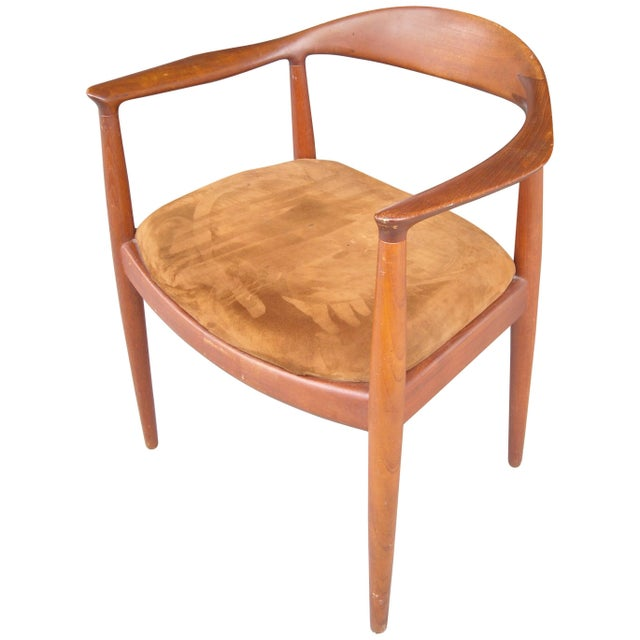 1960s Vintage Mid Century Hans Wegner Armchair For Sale - Image 5 of 5