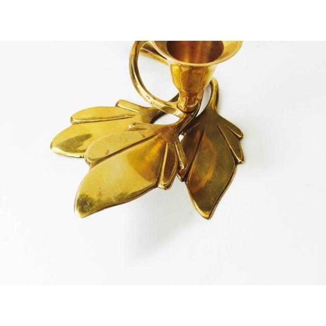 Vintage Brass Songbird Candleholder - Image 4 of 5