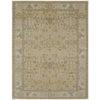 Surena Rugs Antique Style Oushak Rug - 9' x 11' 9'' For Sale
