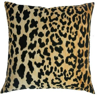 Contemporary Jamil Natural Leopard Velvet Pillow Cover - 24 X24 Preview
