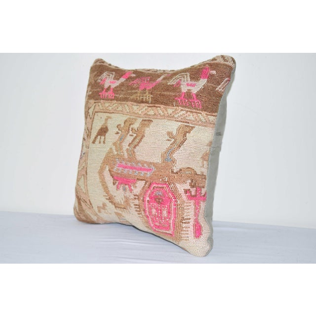 """Mid-Century Modern Animal Soumac Cushion Cover 14"""" X 14"""" For Sale - Image 3 of 6"""