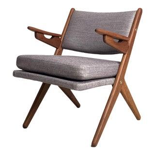 Vintage Danish Teak Accent Chair For Sale