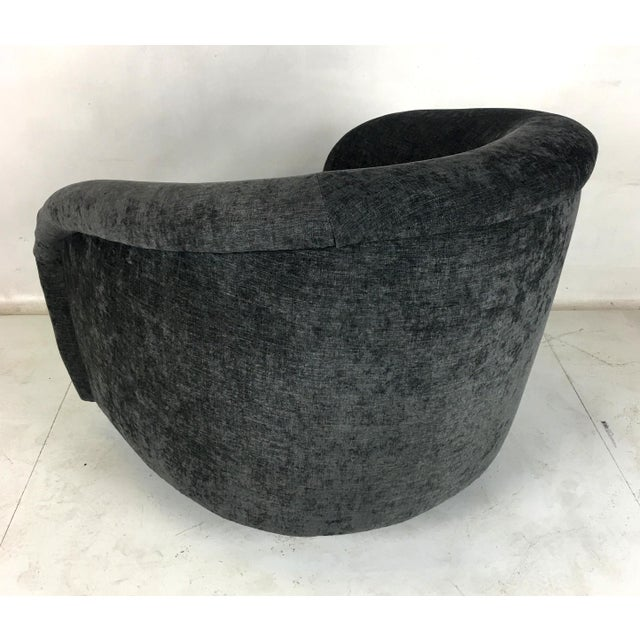 Milo Baughman Roll Arm Swivel Lounge Chairs - a Pair For Sale - Image 9 of 10