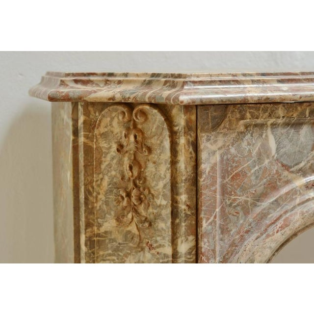 Mid 19th Century Beautiful Petite Marble Régence Style Fireplace Mantel For Sale - Image 5 of 10