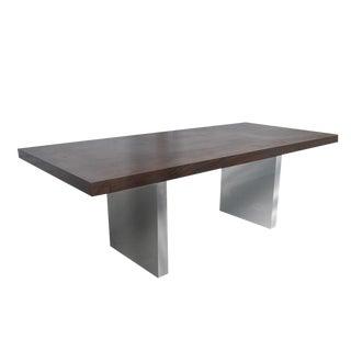 7ft Dunbar Roger Sprunger Rosewood Chrome Writing Desk For Sale