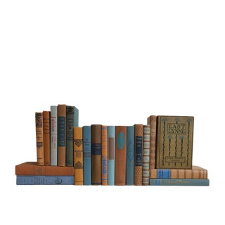 Copper & Sky : Midcentury Decorative Set of Twenty Books